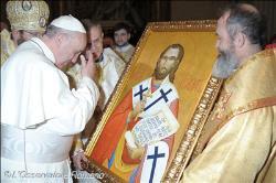 papa francisco e icono josephat