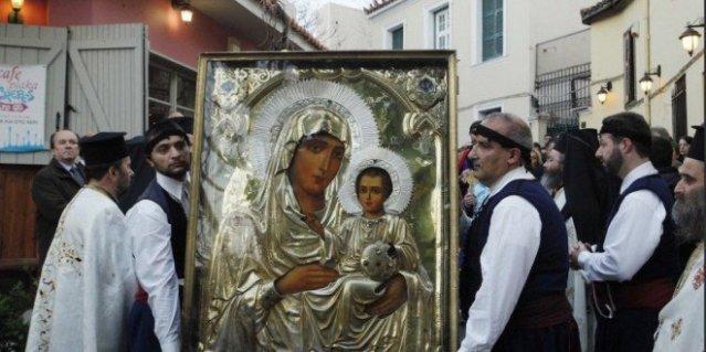 llegada del icono de la theotokos de jerusalén