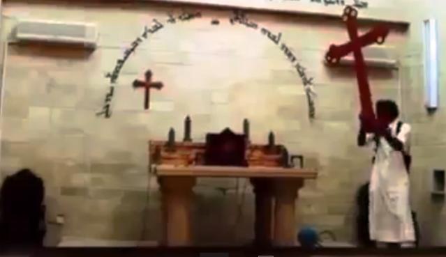 destruccion cruces iraq estado islámico