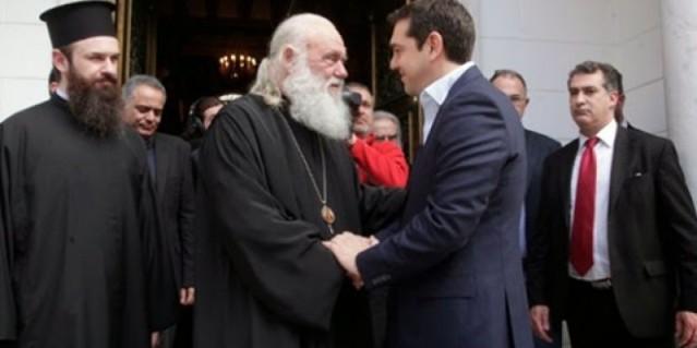 primer ministro griego al arzobispo de atenas