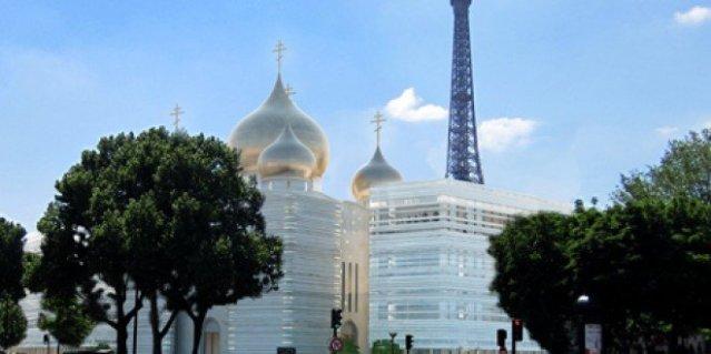 se pone la primera piedra del templo ortodoxo de Paris