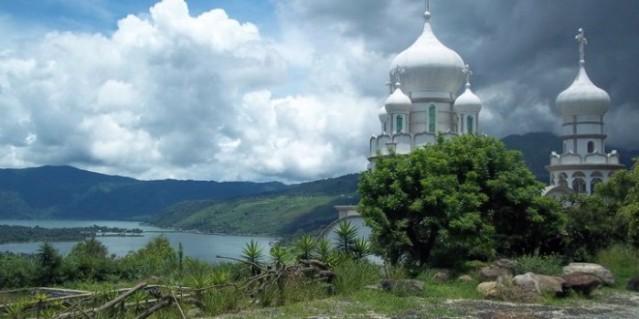 sergey lavrov regala icono a monasterio de guatemala