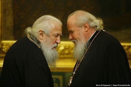patriarca Alexis II y metropolita Laurus