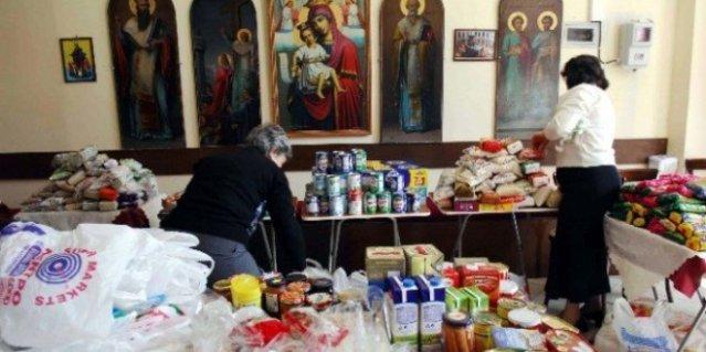 distribución de comida en grecia